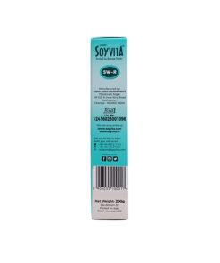 SOYVITA - SWEETENED REGULAR MALT   LACTOSE FREE   ENRICHED SOY BEVERAGE POWDER   Serves-6 (200 Gms)   LEFT SIDE VIEW